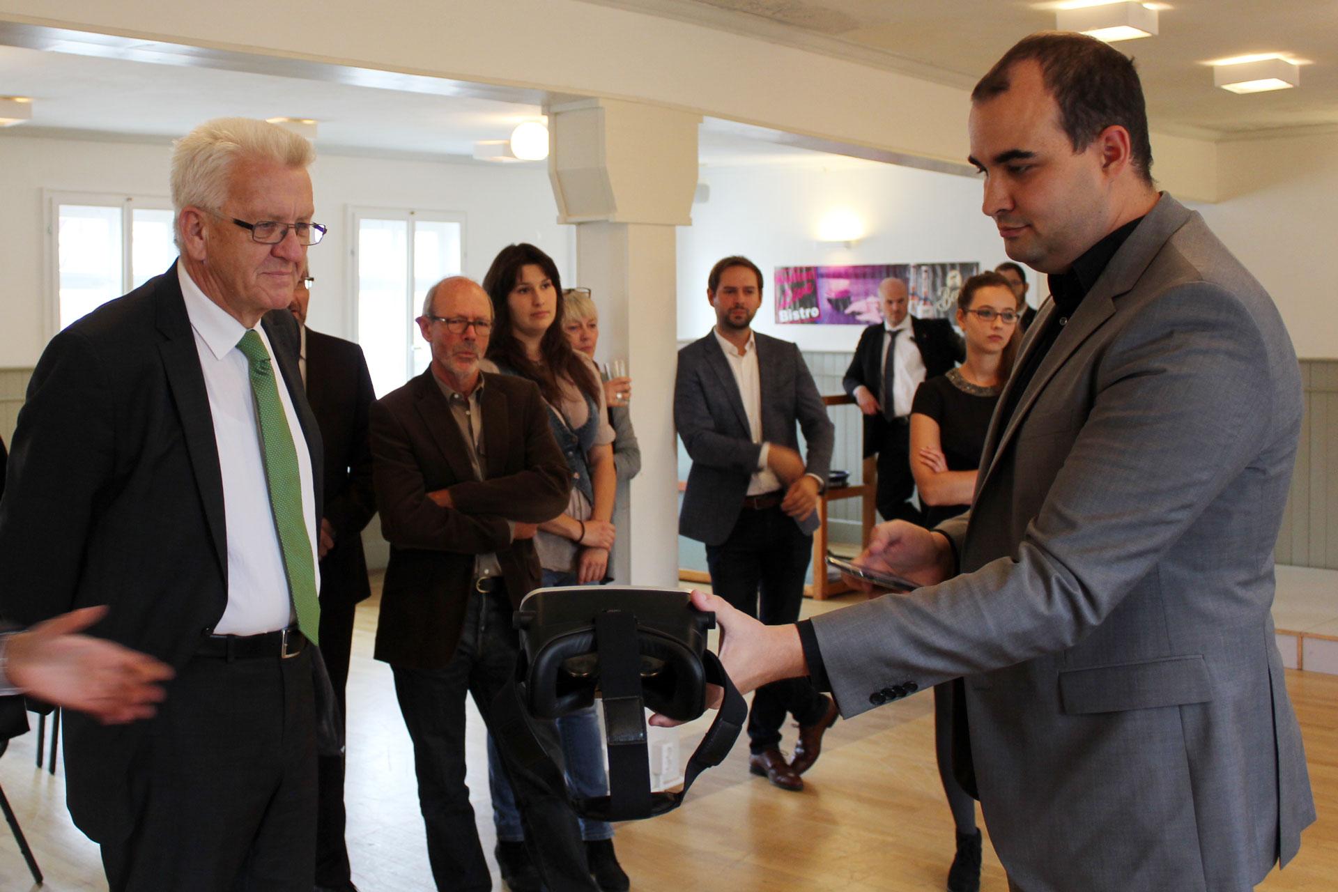 Ministerpräsident Winfried Kretschmann bei mecodia