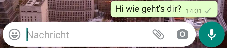 Aber kein bild haken whatsapp zwei WhatsApp: Nachrichten